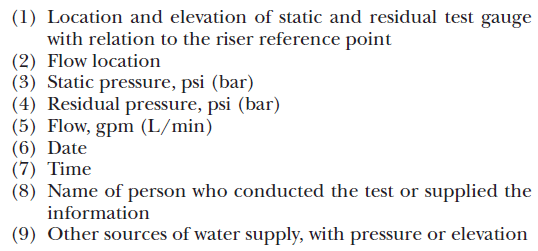 Fire Hydrant Flow Test Requirements